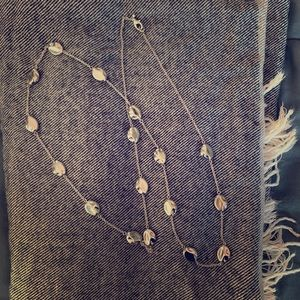 Silver Bean Necklace